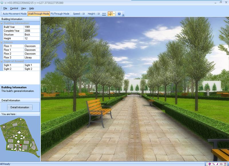 三维数字规划虚拟现实VR管理系统